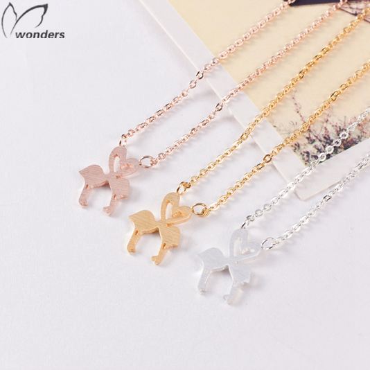 Women Accessories Stainless Steel Gold Silver Tattoo Choker cute Flamingo Love Pendant Necklace Delicate Charm Jewelry<br><br>Aliexpress