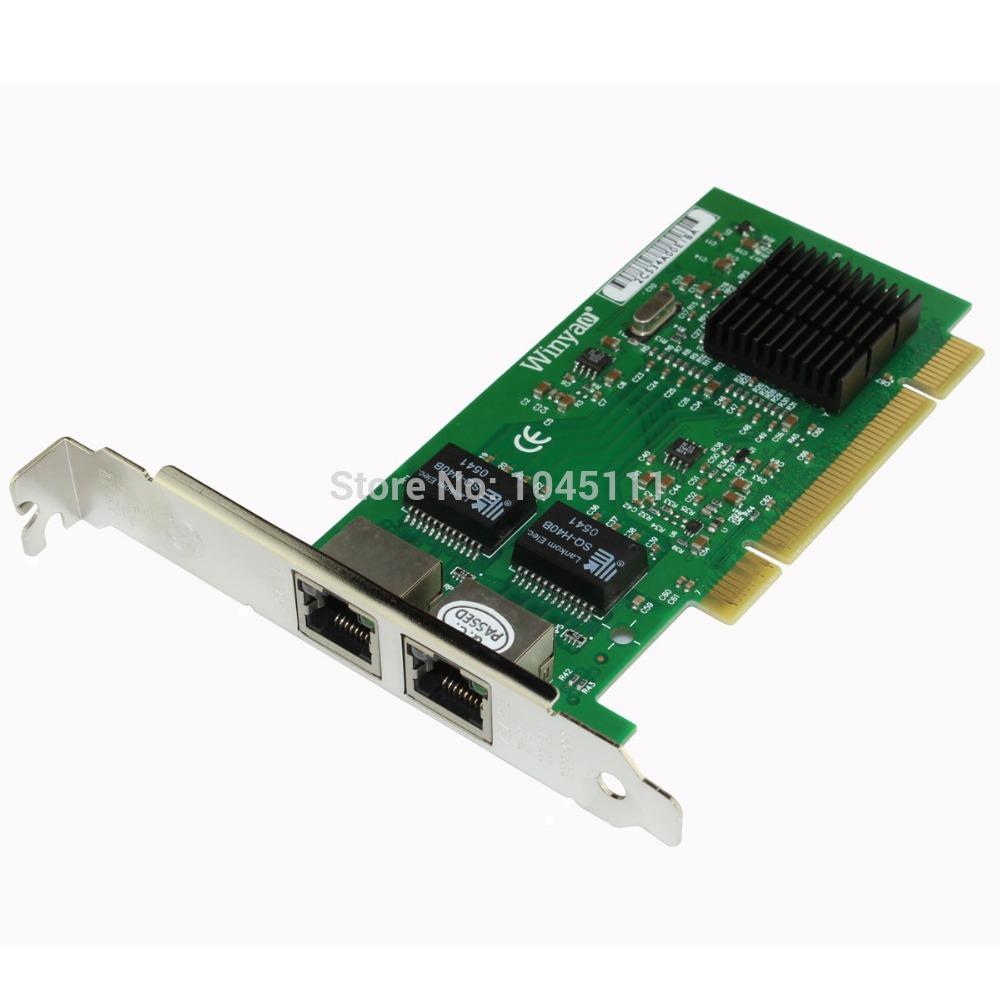 Winyao WY546T2 Dual Port Copper RJ45 Gigabit Ethernet PCI Desktop Network Adapter NIC Intel82546 Chipset Intel 82546EB / GB(China (Mainland))