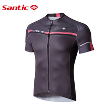 Buy Santic Men Cycling Short Jersey Pro Fit SANTIC N-FEEL Antislip Sleeve Cuff Road Bike MTB Short Sleeve Riding Shirt M7C02107G for $23.75 in AliExpress store