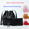 New Arrival 2017 Mansur Gavriel bucket bag genuine leather handbag 100 cowhide Style women Gavriel shoulder