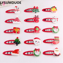 Buy LYSUMDUOE Fashion Princess Hairpin Hot Xmas Hair Clip Girl Hair Boutique Christmas Bow Gift Hair Accessories Hairpin Barrette for $1.19 in AliExpress store