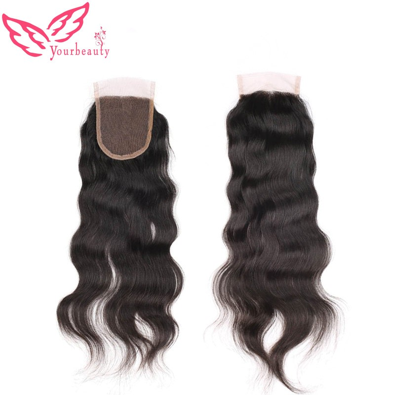 7A 3.5×4 Peruvian Body Wave Lace Closure With Bleached Knots 100% Virgin Human Hair Closure Free Middle 3 Part Top Lace Closure