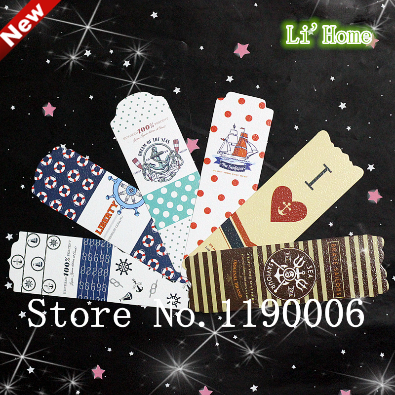 Free shipping 48 pcs Printing interesting memorial boat bookmark Student creative supplies Reward students gifts School Supplies(China (Mainland))
