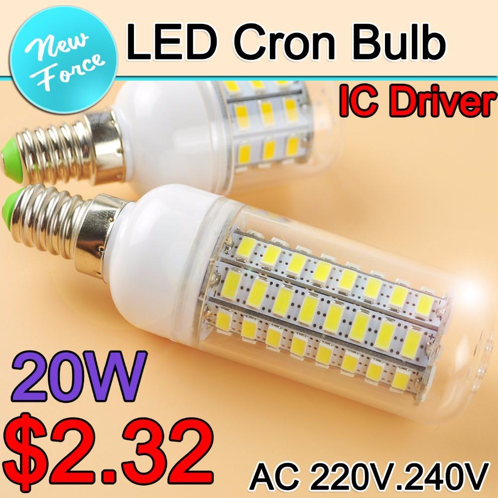 lampada led E14 E27 LED Lamp 7W 9W 12W 15W 18W 20W LED Bulb Light 220V 110V LED Corn Bulb B22 Candle Lampara Bombilla spotlight(China (Mainland))