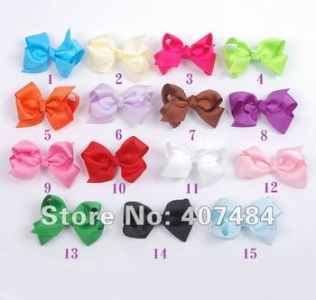 Boutique Wholesale Toddler Hairbow Solid Hair Bows With Clips Fashion Hair Accessory,50pcs/lot