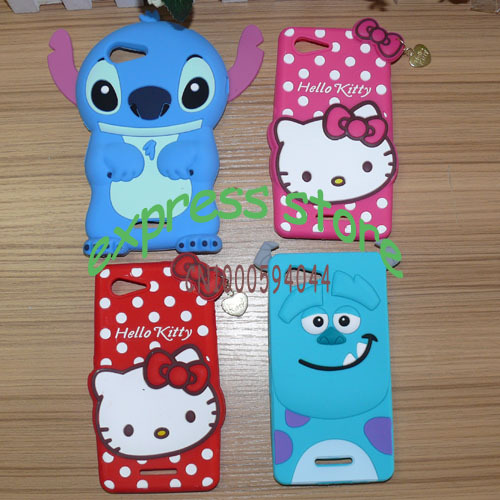 3D Cartoon Stitch sulley Case For Sony Xperia E3 D2203 D2206 D2243 D2202 Dual D2212Soft cute Silicone Back Cover for sony E3(China (Mainland))
