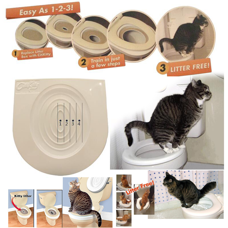 Easy to Learn Cat Toilet Training Kit Training and Behaviour Aids drop shipping