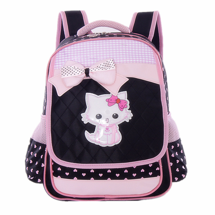 Hello Kitty Backpack Black Children School bags for girls Mochila infantil bag Child Schoolbag kids backpacks Korean fashion(China (Mainland))