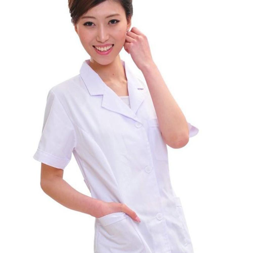 Medical uniforms hospital medical scrub clothes short sleeves for men/women doctors under lab coat medical BLOUSE white coat(China (Mainland))