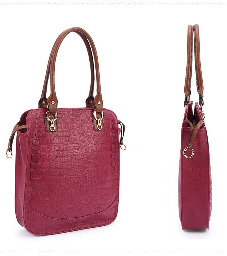 New  women bag high quality elegant composite PU leather handbag fashion  women messenger bags 2015 shoulder bag bolsos BH846 (2)