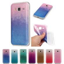 Buy Samsung J3 Silicon Glitter Cover transparent edge Samsung Galaxy J3 2016 J320 J300 J3109 Gradient Bling Soft TPU Case for $2.44 in AliExpress store