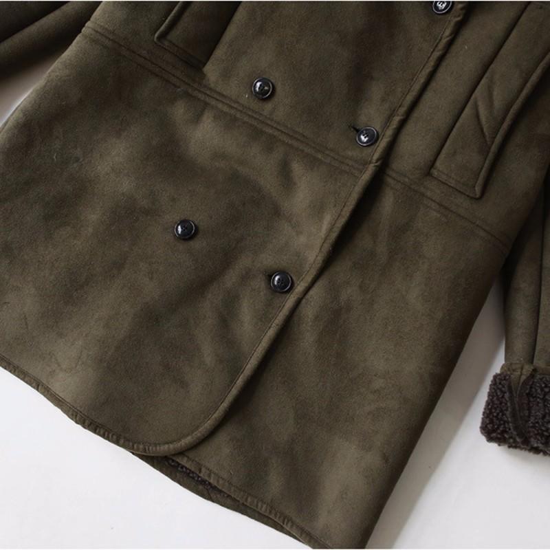 Скидки на 2016 НОВОЕ ПРИБЫТИЕ зимой пуховик утолщаются зеленый с длинным рукавом молнии хлопок одежда лацкане простой сплошной цвет теплый пуховик
