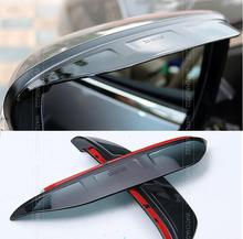 FIT FOR NISSAN QASHQAI J11 2014 2015 2016 SIDE DOOR REAR MIRROR RAIN SNOW GUARD VISOR SHADE COVER REAR VIEW WEATHER  ACCESSORIES(China (Mainland))