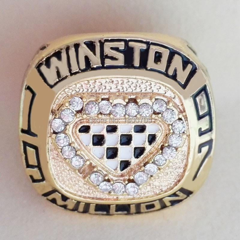 2015 Hot Sale Newest 1997 Million cup Jeff Gordon Daytona 500 Nascar Racing championship ring,Free shipping gold men ring(China (Mainland))