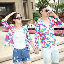 Chaquetas Mujer 2015 New Arrival Summer Casaco Baseball Couples Camouflage Thin Coat Slim Sunscreen Korean Chaquetas