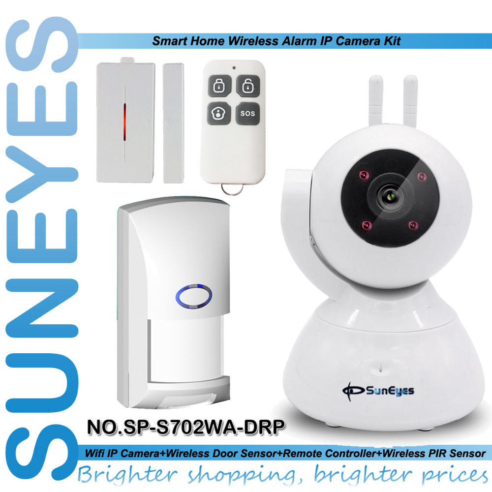 SunEyes SP-S702WA-DRP 720P HD Wireless IP Camera Alarm Kit with 1pcs Door Sensor +1pcs remote control+1pcs PIR Sensor(China (Mainland))