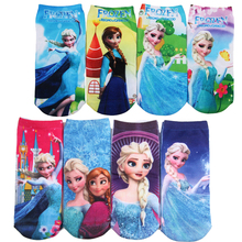 6Pair/lot 3D Printing Cartoon Pattern Cotton Children's Girls Boys Socks Baby Kids Socks 20 Kind Of Style Suitable For 2-10 Year