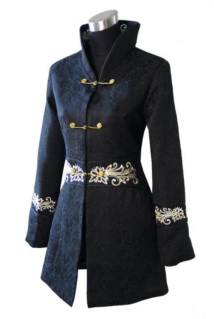 Бесплатная доставка черный китайских женщин хлопка с пальто зимние пальто размер ...