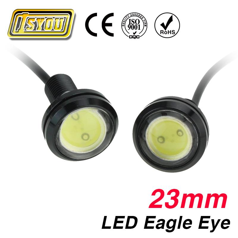 LED car light DC 12V 1pcs 23mm LED Eagle Eye Daytime Running Light parking lamp fog work light source Car styling(China (Mainland))
