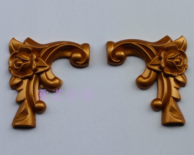 6.5x7cm European Furniture Accessories Connecting Corner Wood Carved Flower Furniture Decoration(1pairs)<br><br>Aliexpress