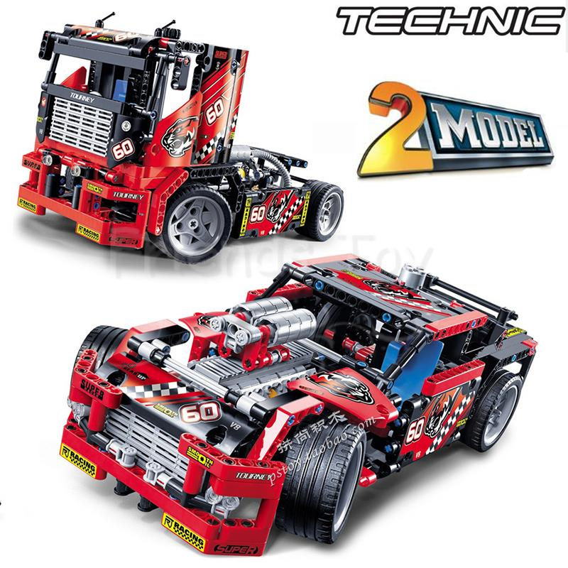 608pcs Race Truck Car 2 In 1 Transformable Model Building Block Sets DIY Toys Gift Compatible With Lego Technic 42041 <br><br>Aliexpress