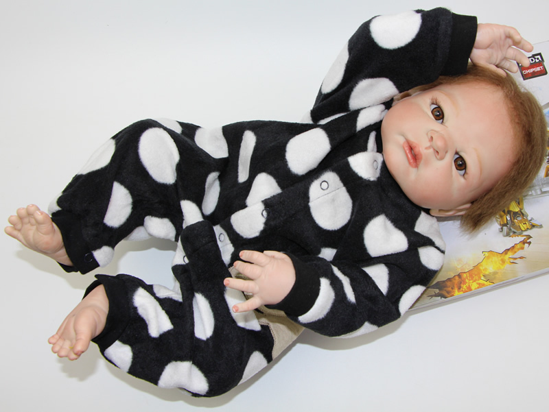 New Arrived Realistic 23Inch Reborn Baby Doll Full Silicone Vinyl Baby Toys Lovely Alive Baby Born Doll Lifelike Princess Girl(China (Mainland))
