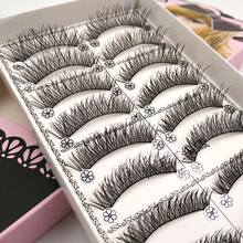 Buy 10 Pairs natural eyelashes long soft eye lashes makeup eyelash extension false eyelashes black fake lashes faux cils L2 for $1.59 in AliExpress store