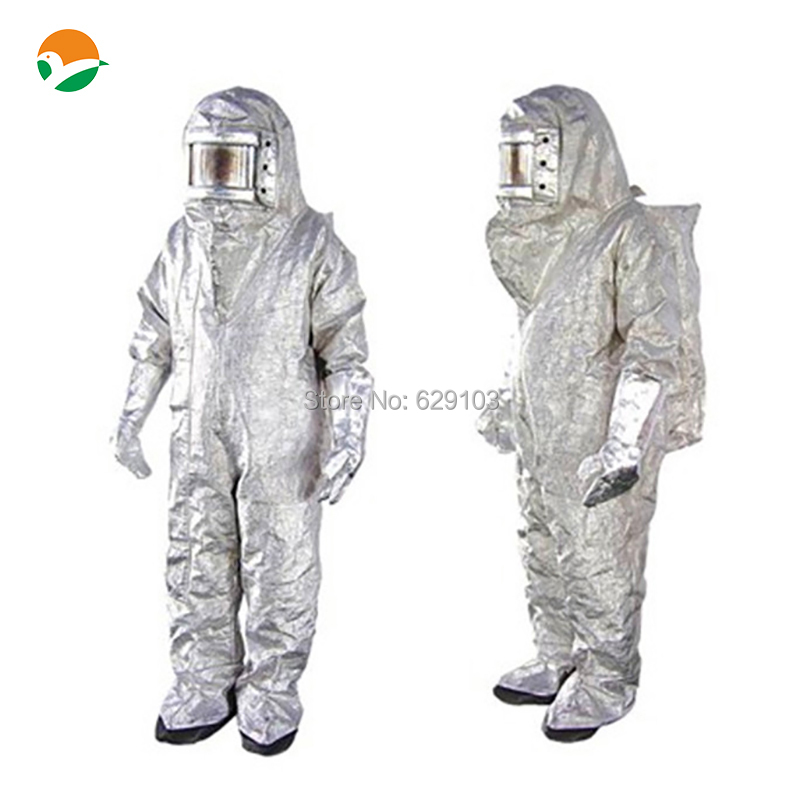 500 series aluminized fire suit ideal for aircraft rescue and fire fighting