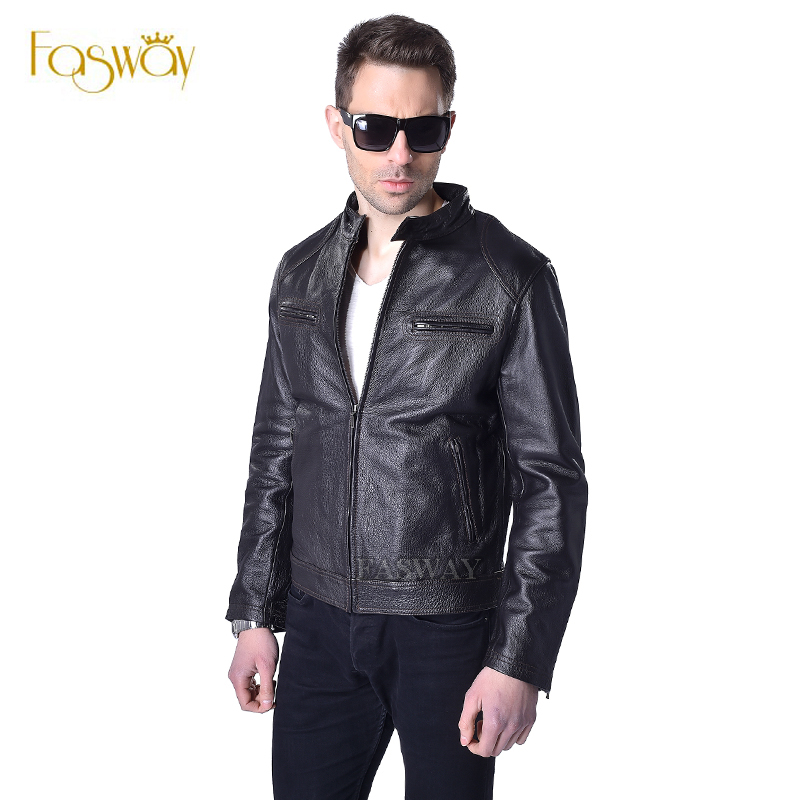 Popular Brown Leather Bomber Jacket Men-Buy Cheap Brown Leather