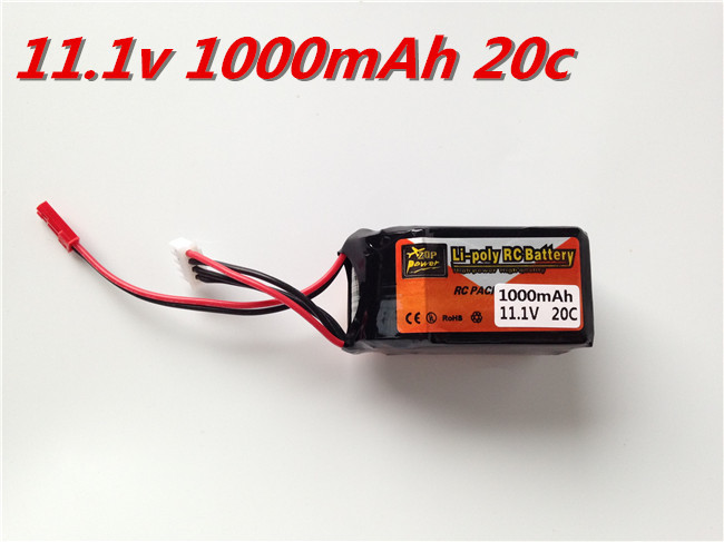 ZOP Power Lithium Polymer Lipo Battery 11.1v1000Mah 2s 20C JST for RC Car Airplane Helicopter Aircraft Bateria Lipo Rechargeable(China (Mainland))