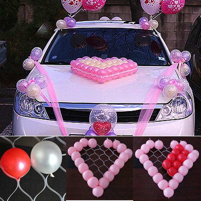 "2015 New Wedding Car Decor Model Hard Clear Heart Shape Plastic 38 Cells Net Model Frame For 5"" Balloons(China (Mainland))"