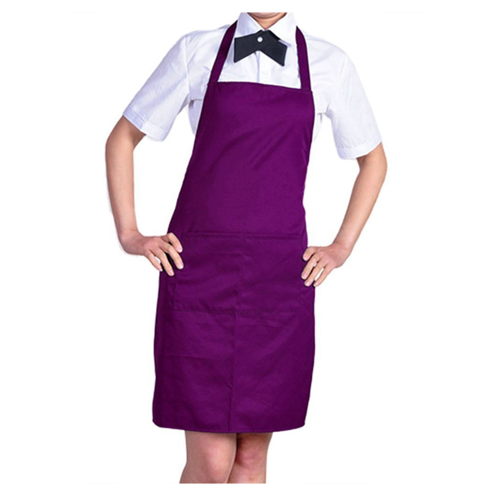 5pcs/lot Plain Apron with Front Pocket Kitchen Cooking Craft Baking Purple TOOGOO(R)(China (Mainland))