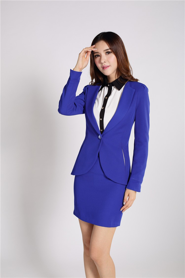 New 2015 New Women Business Suit Short Sleeve Set Plus Size 6 Colors Professional OL Work Wear Women ...