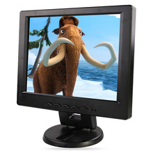 "12"" LCD monitor, Resolution 1024*768, can be used as desktop Computer display, VGA+AV+TV+HDMI+USB BLACK, CAN BE USED AS TV(China (Mainland))"