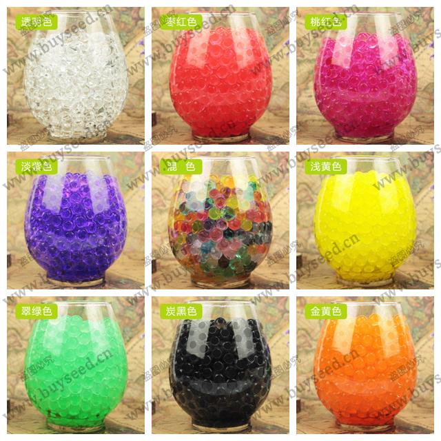 Гаджет  1200 pcs Crystal Mud Soil Water Beads Bio Gel Ball For Flower/Weeding/Decor None Дом и Сад