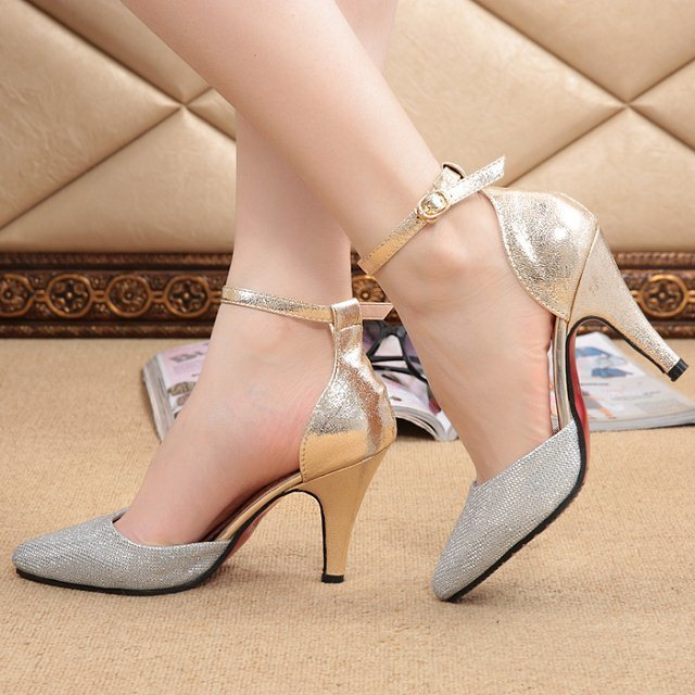2014 Fashion Women Pumps Sexy Pointed Toe Red Bottom High Heel ...