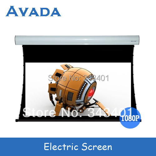 """120"""" 4:3 electric 3D silver screen with remote control for 3D cinemas Free shipping"""
