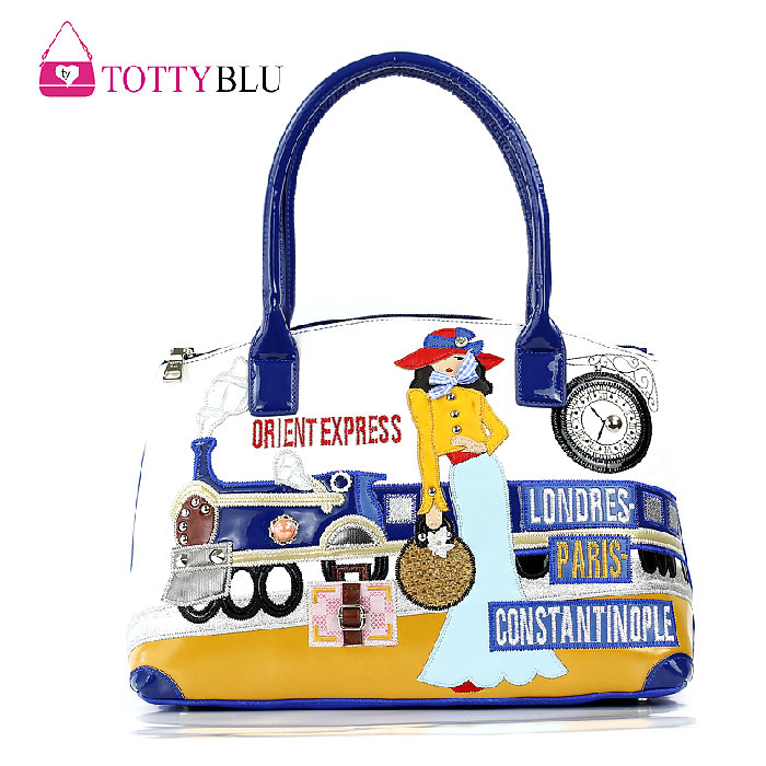 2015 Borsa Tottyblu Braccialini Italy Handicraft Beauty Train station Women Shoulder Bag Female Tote Bag Handbag Free shipping(China (Mainland))