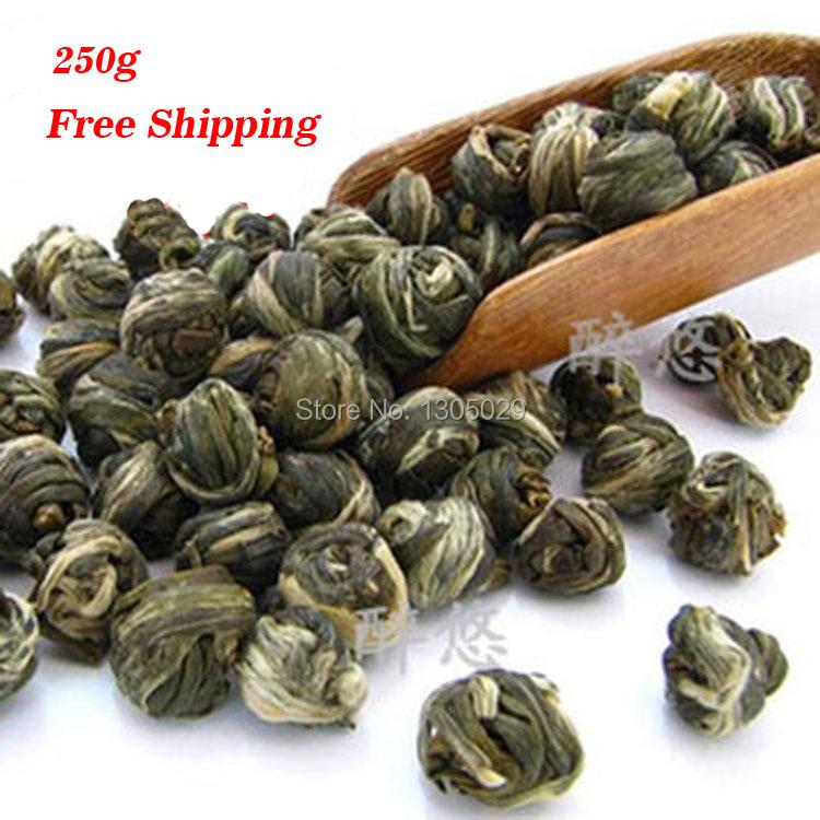 250g Green Tea With Jasmine Flower Tea Pearl Pure Natural Good Quality Jasmine Tea Pearl Free