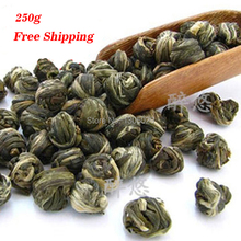 250g Green Tea With Jasmine Flower Tea Pearl Pure Natural Good Quality Jasmine Tea Pearl Free Shipping