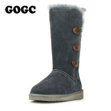 GOGC 2018 Phụ Nữ Mùa Đông Giày Ủng Ấm nữ Mùa Đông Giày Boot Len Lông Thoải Mái Da Thật Chính Hãng Da nữ 9722(China)