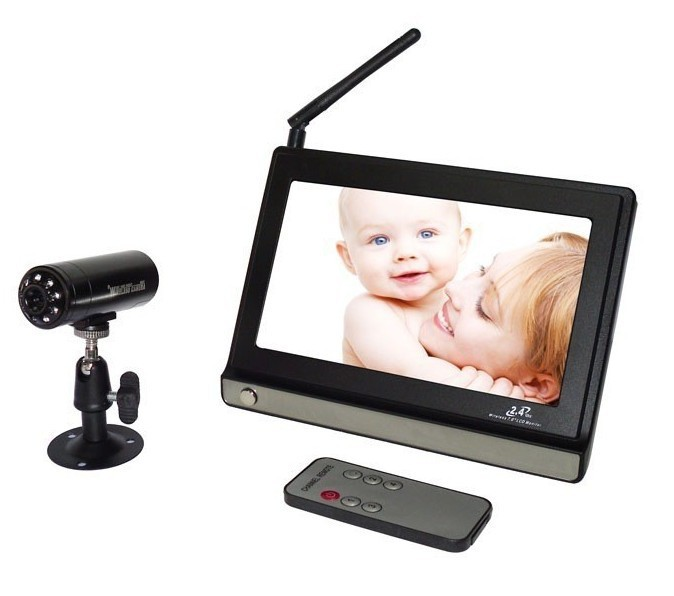 wireless control baby monitors 2.4GHz digital video baby monitor 7 inch Baby care camera P2<br><br>Aliexpress