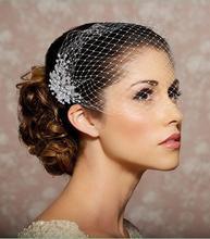 Jewelry Wedding Birdcage Veils One Layer French Net Brooch Bridal Birdcage Veils Bridal Accessories Short Wedding Veils RX917(China (Mainland))