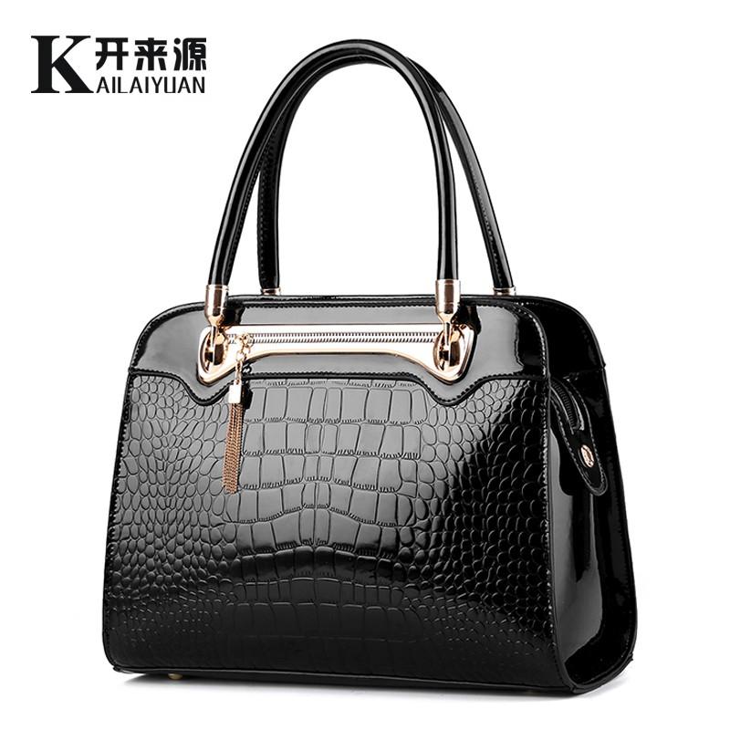 KLY 100% Genuine leather Women handbags 2016 New Crocodile fashion shoulder bags women shoulder messenger bags designer handbags(China (Mainland))