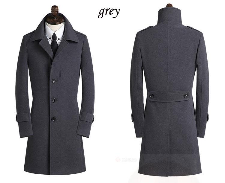 Men Extra Long Trench Coat Promotion-Shop for Promotional Men ...