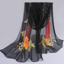 2016 fashion pashmina women scarf new design floral shawl Cape silk chiffon Tippet muffler hot sale Scarves free shipping(China (Mainland))