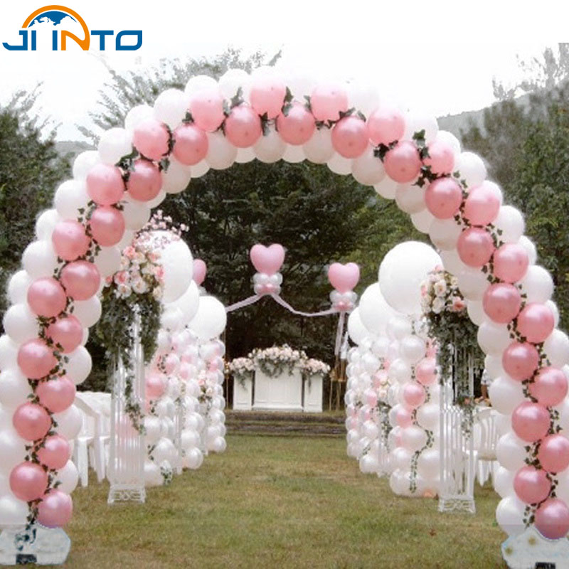 Latex Balloons Free Shipping 100pcs/Lot 10 Inches Pink Wedding Balloons Birthday Party Decorations Kids And Party Decoration(China (Mainland))