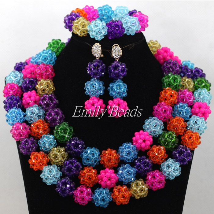 Chunky African Beads Jewelry Sets Nigerian Wedding Jewelry Sets Full Beads Indian Bridal Jewelry Sets Hot Free Shipping AIJ783<br><br>Aliexpress