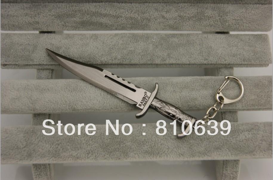"4.3"" Cross Fire Kinfe Dagger Metal Keychain CF/CS bush-knife Keys Ring Weapon FANS Collection Christmas Gift Rambo Knife(China (Mainland))"