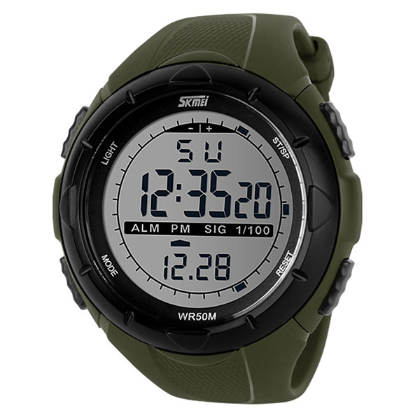 2015 Sports Watches Outdoor Digital watch LED Electronic Clock Dress Dive Swim Army Military 5ATM Waterproof Brand Wristwatches(China (Mainland))